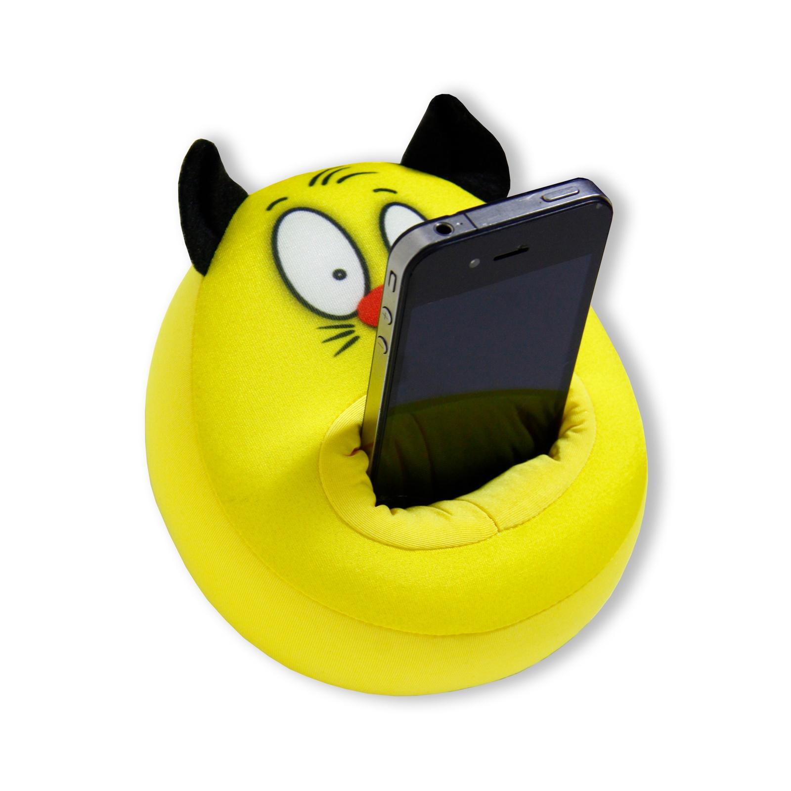 """Антистресс """"Кот Зубастик"""", Антистрессовая подставка под телефон """"Штучки, к которым тянутся ручки"""", 15аспт02ив-2_желтый"""