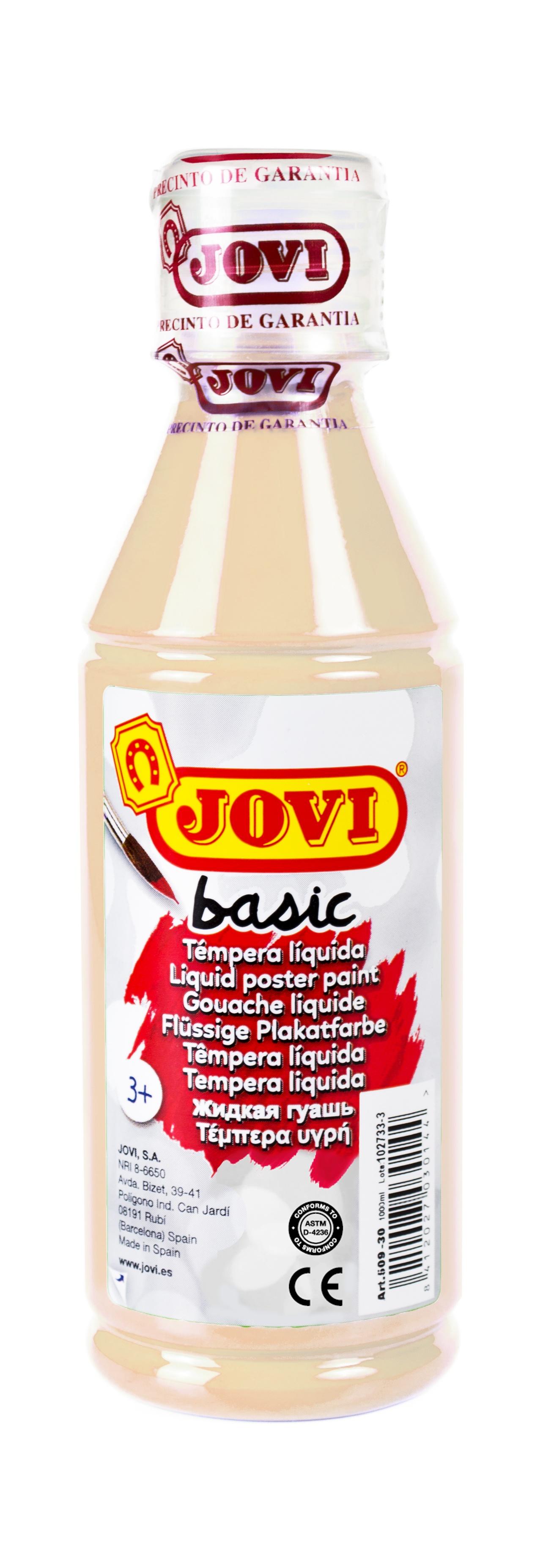 Гуашь JOVI школьная телесная 250 мл в пластиковой бутылке