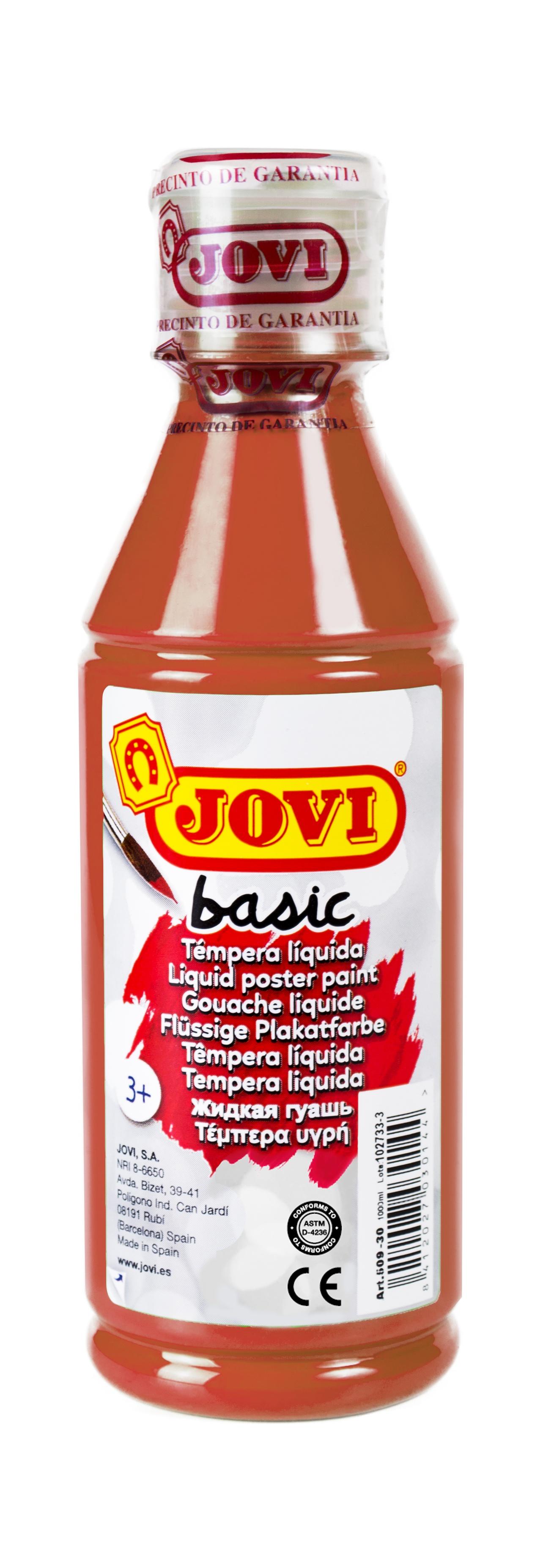 Гуашь JOVI школьная коричневая 250 мл в пластиковой бутылке