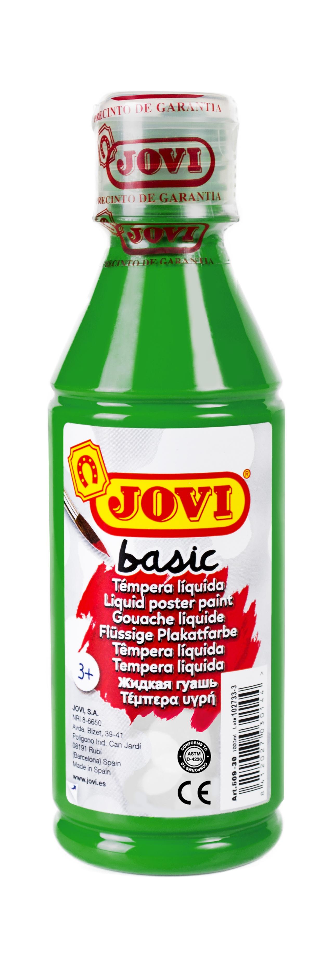 Гуашь JOVI школьная темно-зеленая 250 мл в пластиковой бутылке