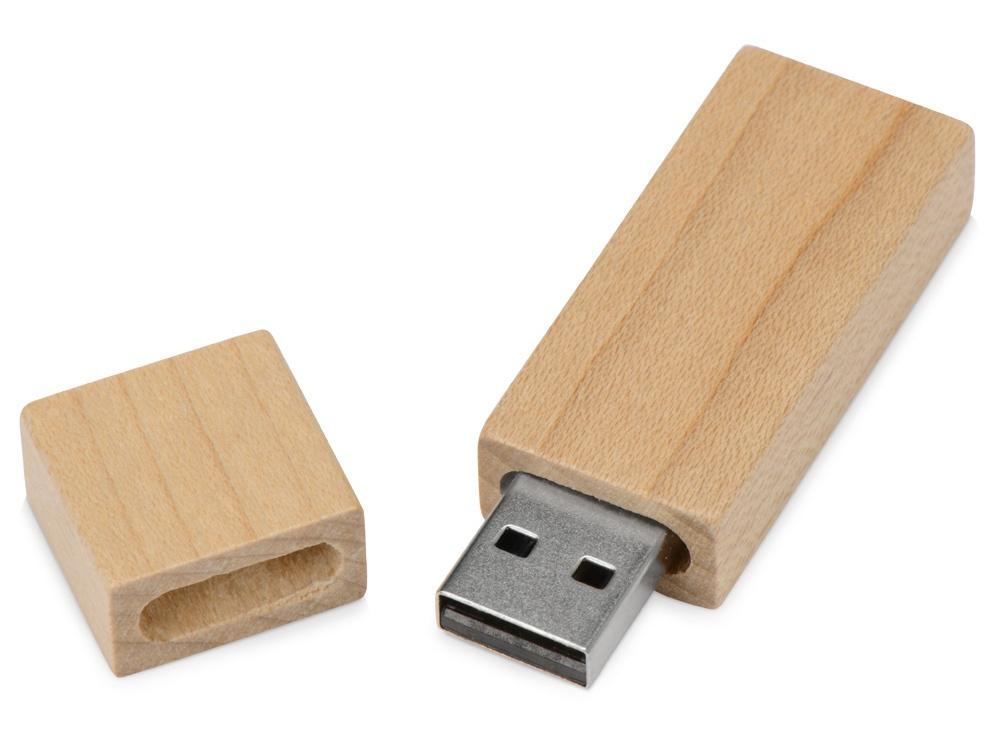 USB Флеш-накопитель Oasis «Woody» мелок художественный в деревянном корпусе желто коричневый