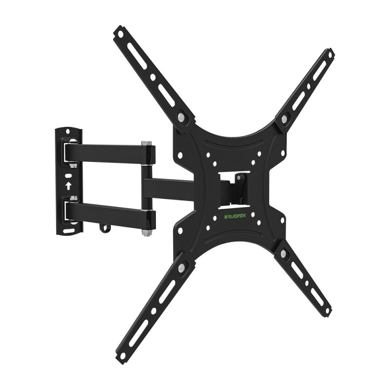 Кронштейн Tuarex ALTA-404 black, настенный для TV 15-55, поворот 180, наклон +5-15, от стены 59-432мм, макс 30кг, VESA 400x400 цена