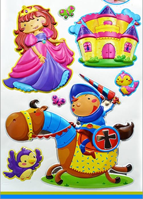 Наклейки ЛиС из пластика 29х49см, Принцессы, PLA пластик первые объемные наклейки принцессы