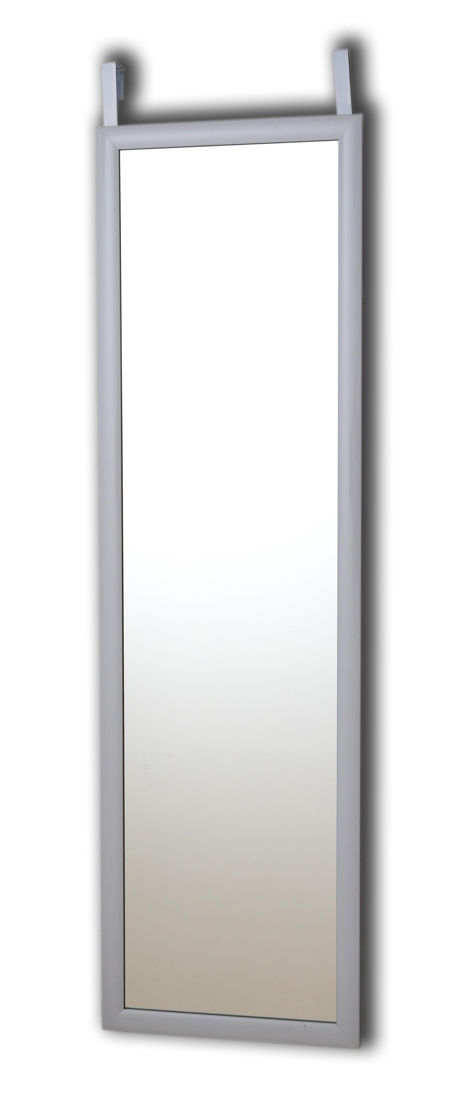Зеркало в багетной раме SCANDI 2в1 (на стену и дверь)34х118см,белый оснастка морская balzer scandi rig