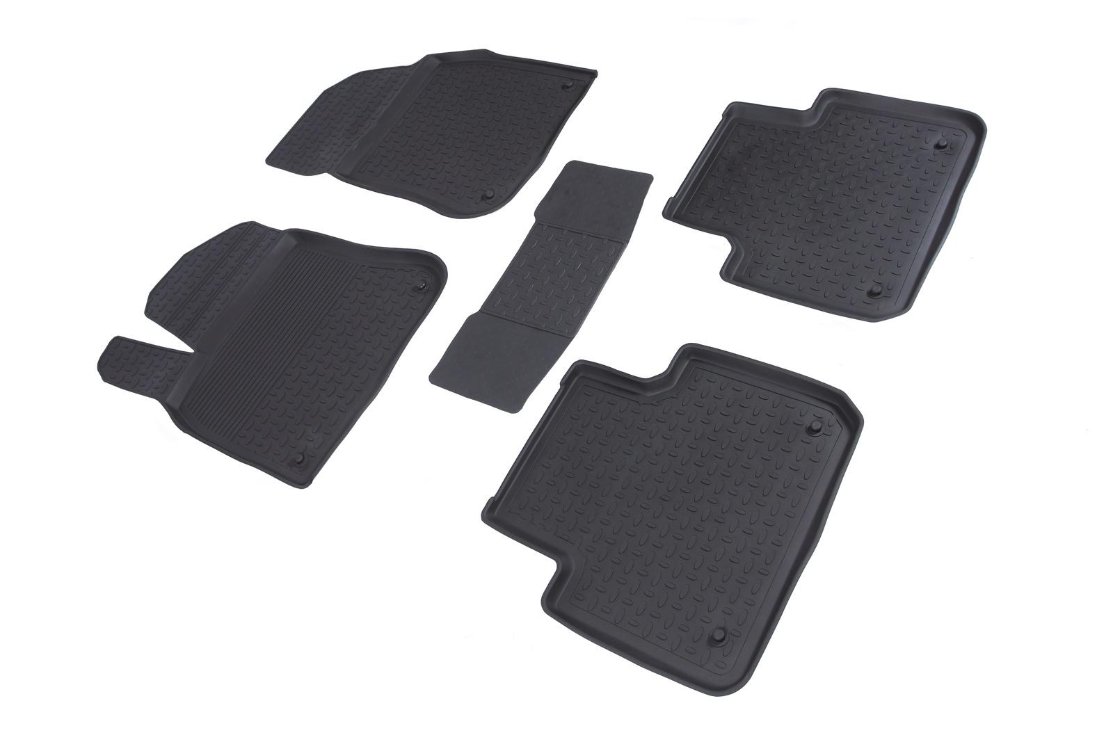 Коврики в салон автомобиля Seintex Резиновые коврики с высоким бортом для Chevrolet Orlando (5 мест) 2011-2015
