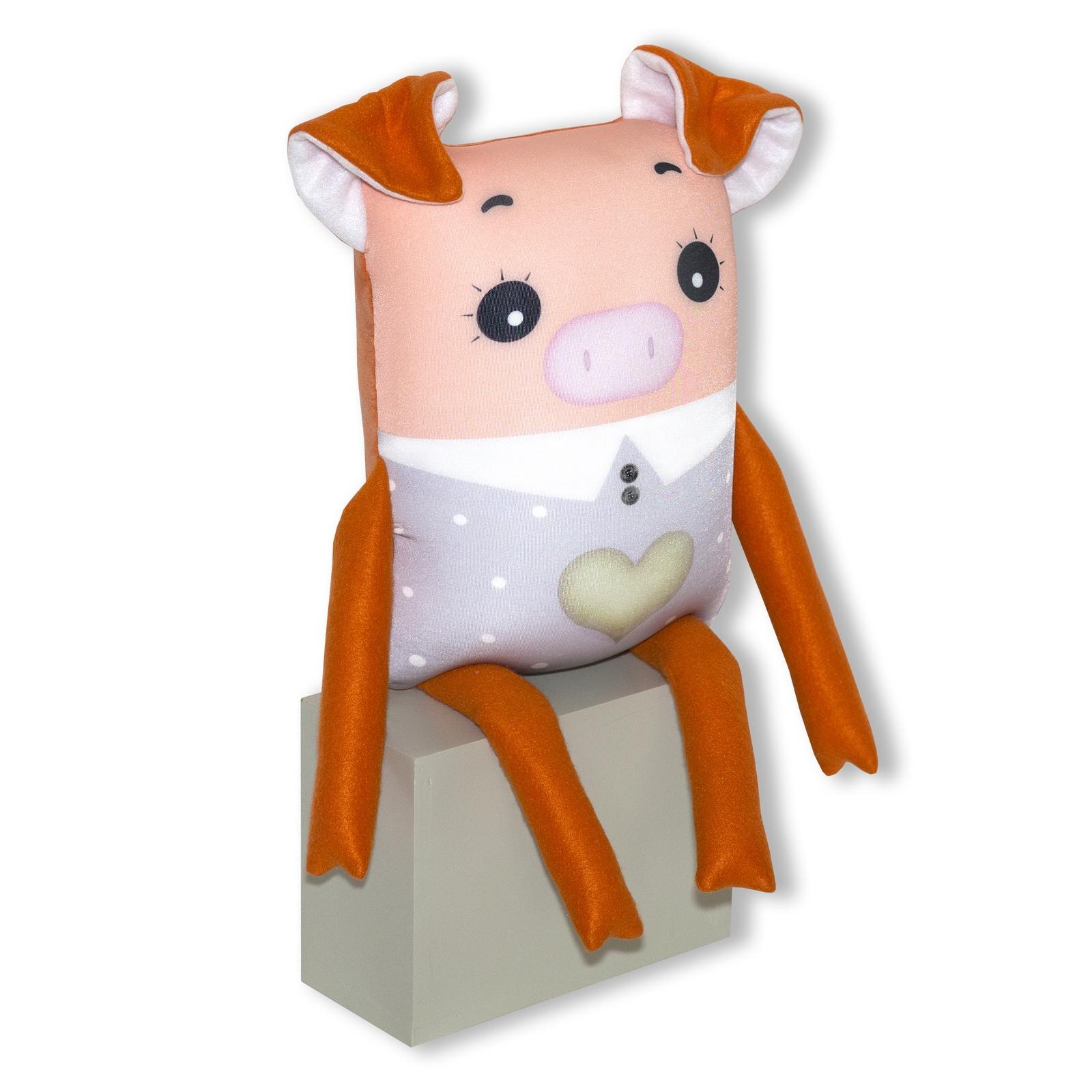 Игрушка антистресс Штучки, к которым тянутся ручки Хрюша Нюша оранжевый