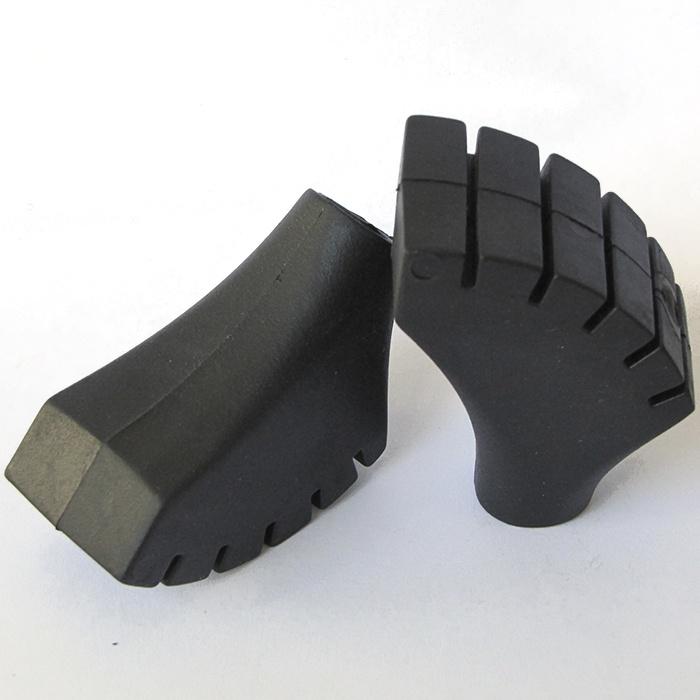 Наконечники для палок для скандинавской ходьбы типа ботиночки усиленные (универсальные) manGO Hard из жесткой резины, 2 шт. наконечник для палок для скандинавской ходьбы larsen nordic аc 16 летний цвет черный