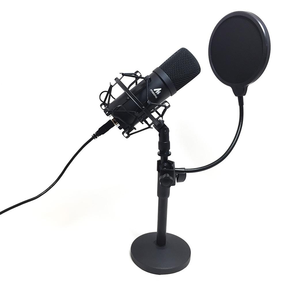 Микрофон MAONO AU-A04T, встроенный АЦП, разъем USB, конденсаторный, черный