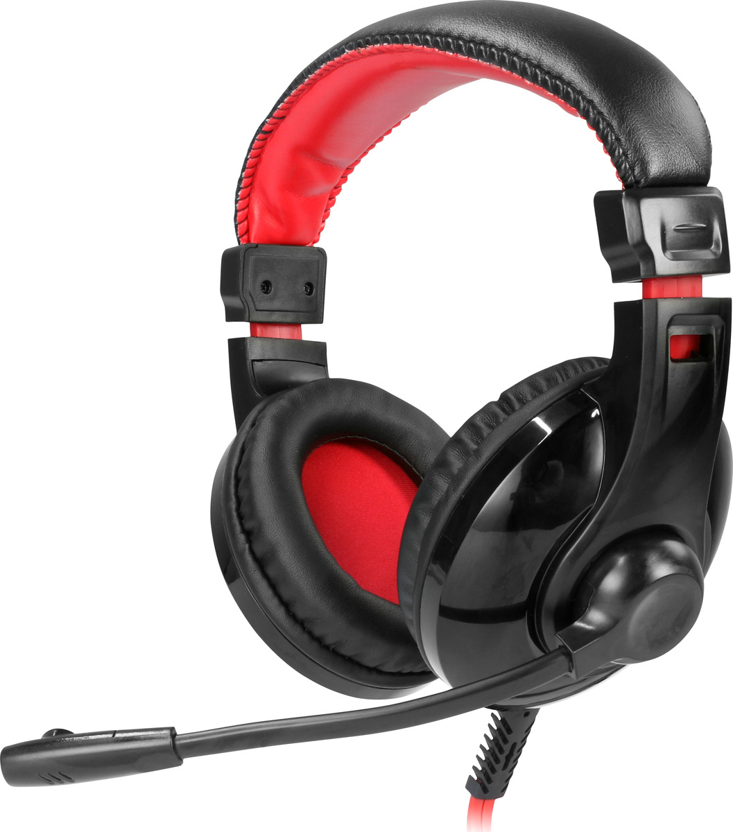 Игровые наушники Qumo Dragon War Fire GHS 0009, черный, красный цена и фото