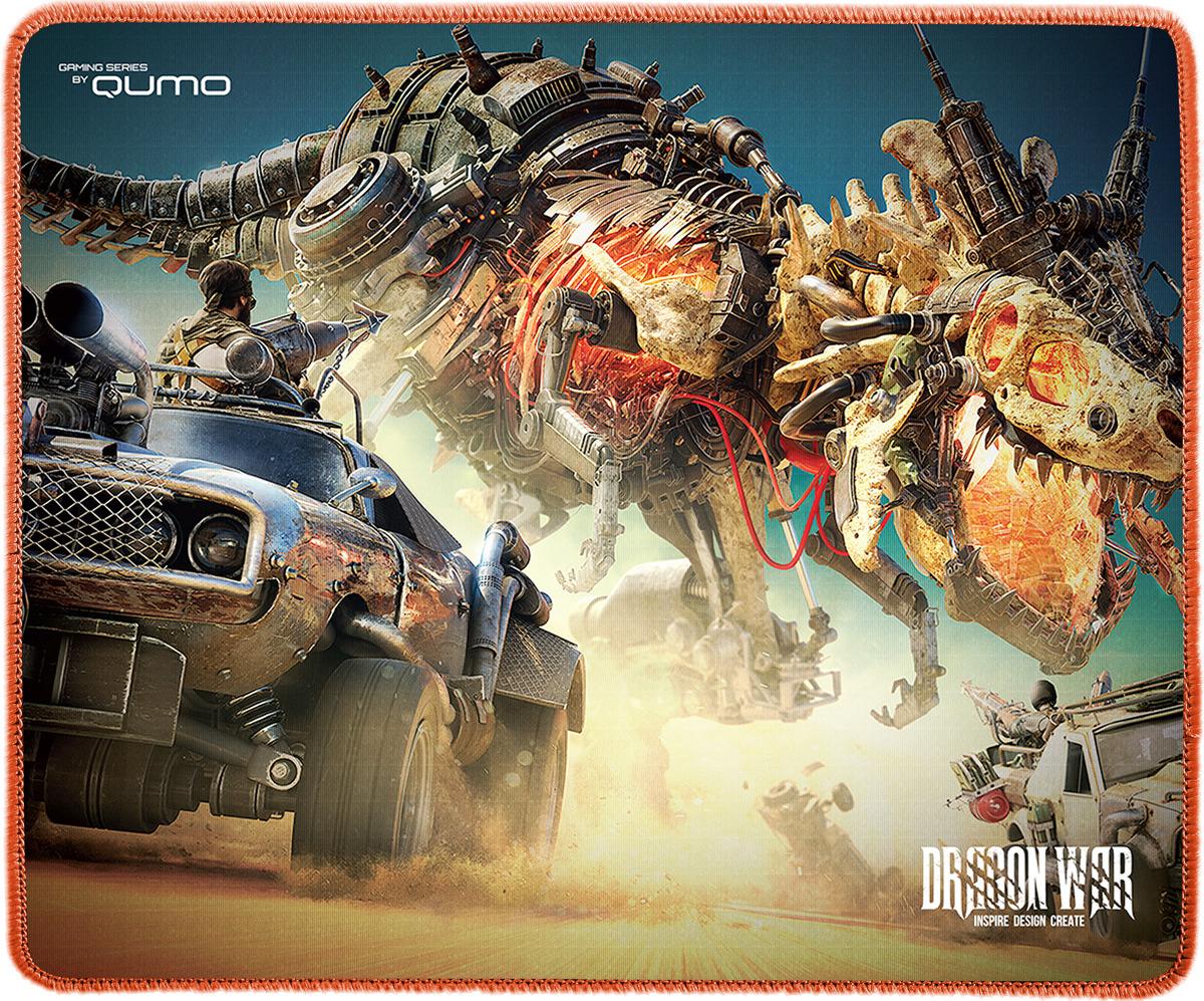 Коврик для мыши игровой Qumo Godzilla, черный benq zowie коврик для мыши p sr игровой профессиональный 355 x 315 x 3 5 мм мягкий медленный черный