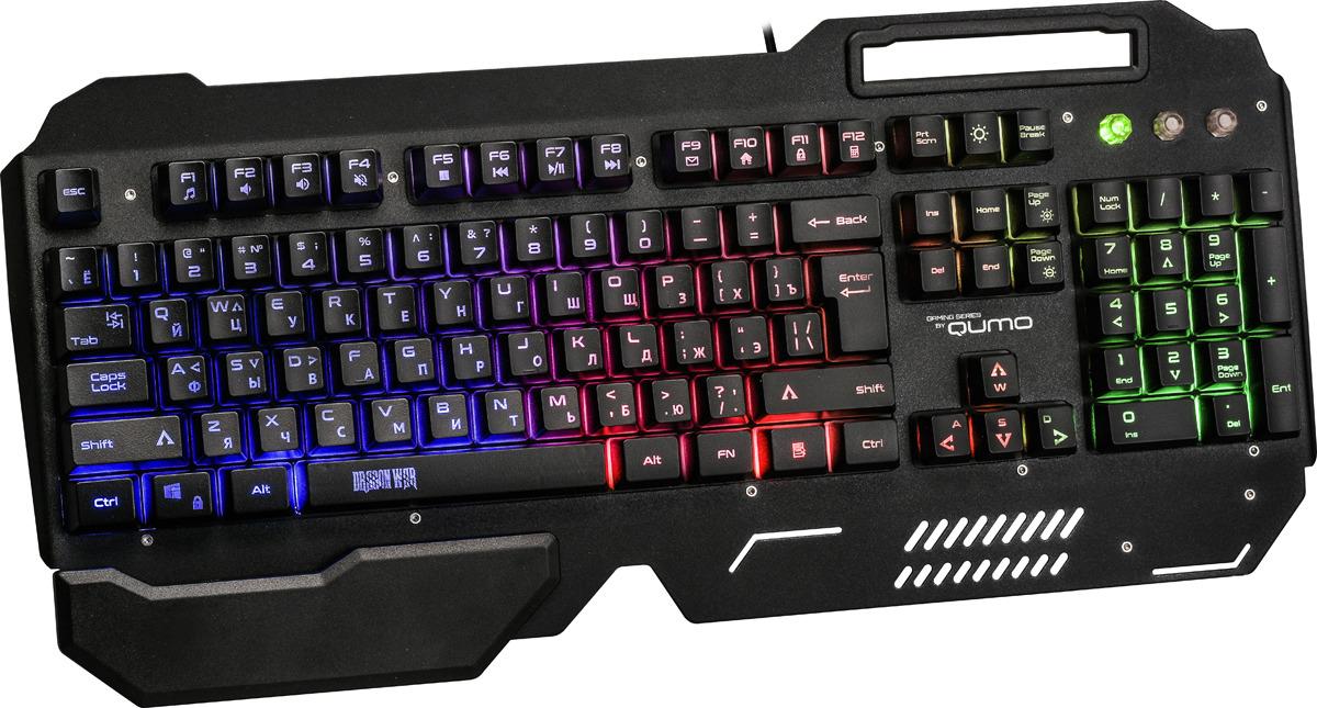 лучшая цена Игровая клавиатура Qumo Deathmatch K48, черный