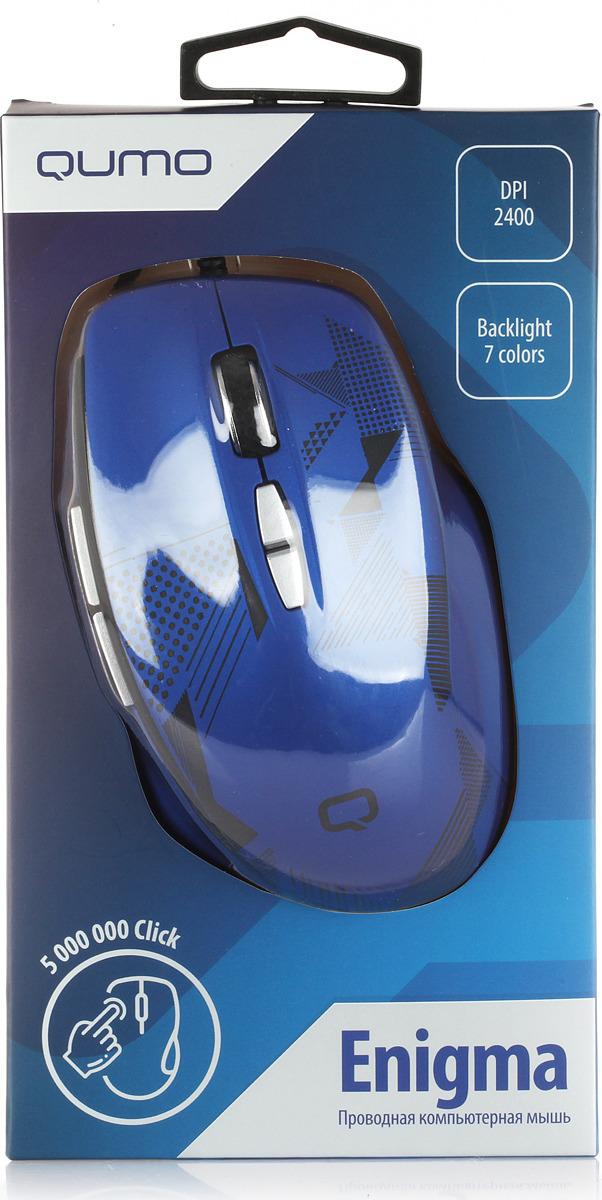 лучшая цена Мышь Qumo Office Enigma M59, синий
