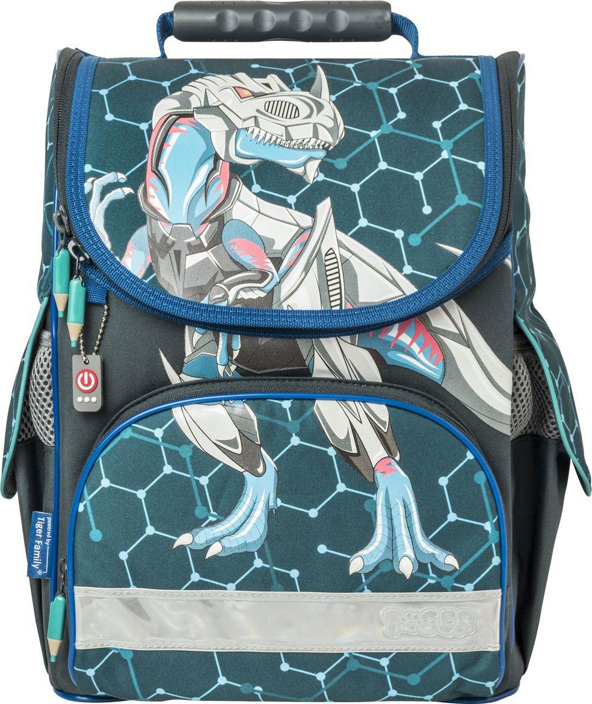 Ранец школьный Tiger Family Nature Quest Metal Dino, 00-00064812 ранец школьный tiger scholar collection 38x34х21 см синий