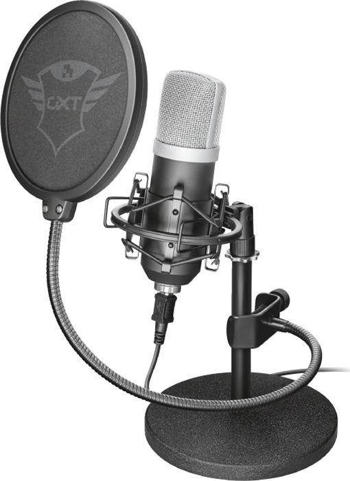 Игровой стрим микрофон Trust GXT 252 Emita, 21753, черный