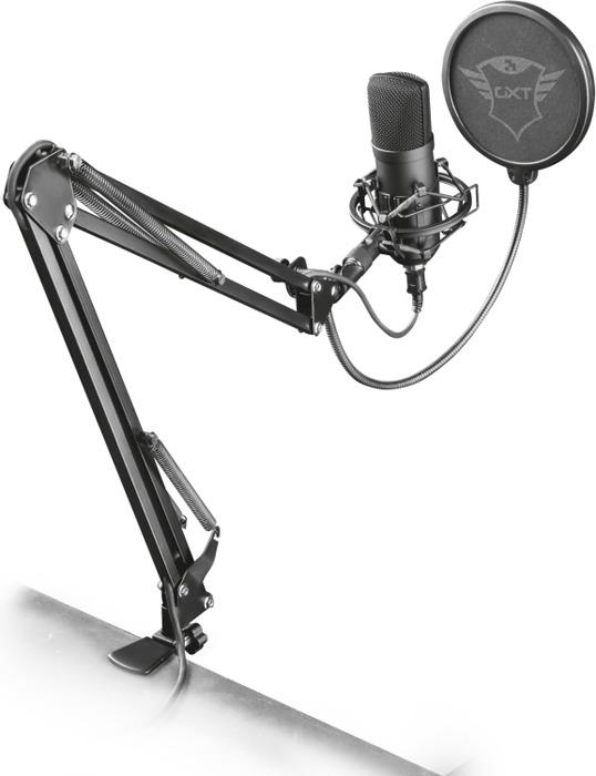 Игровой стрим микрофон 22400 Trust GXT 252+ EMITA PLUS паук стойка защита USB