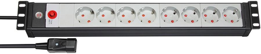 """1156057118 Brennenstuhl удлинитель Premium-Line 19"""", 3 м., черный/светло-серый"""