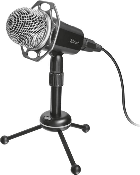 Стрим микрофон Trust Radi All-round Профи USB 3.5 мм, 21752, черный