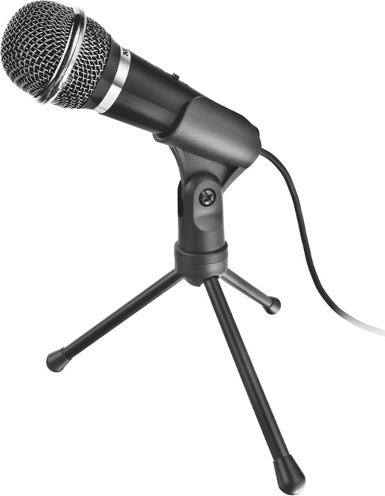 Стрим микрофон Trust Starzz All-round 3.5 мм, 21671, черный
