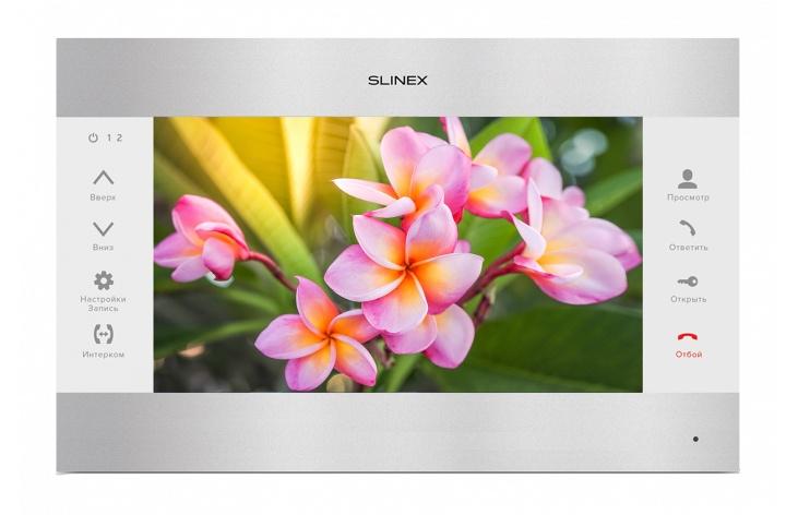 Видеодомофон Slinex Монитор видеодомофона SL-10M SILVER/WHITE, белый, серебристый