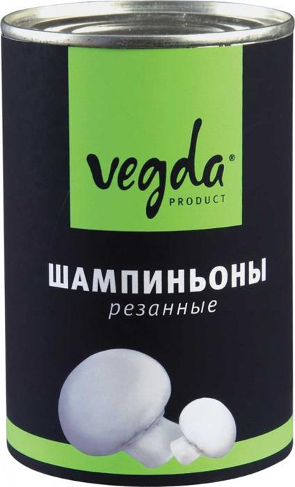 Шампиньоны резанные Vegda Product, 425 мл vegda томаты очищенные италия 425 мл
