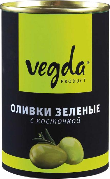 Оливки зеленые Vegda Product, с косточкой, 300 г guerola оливки зеленые сорта кампо реал с косточкой 2 25 кг