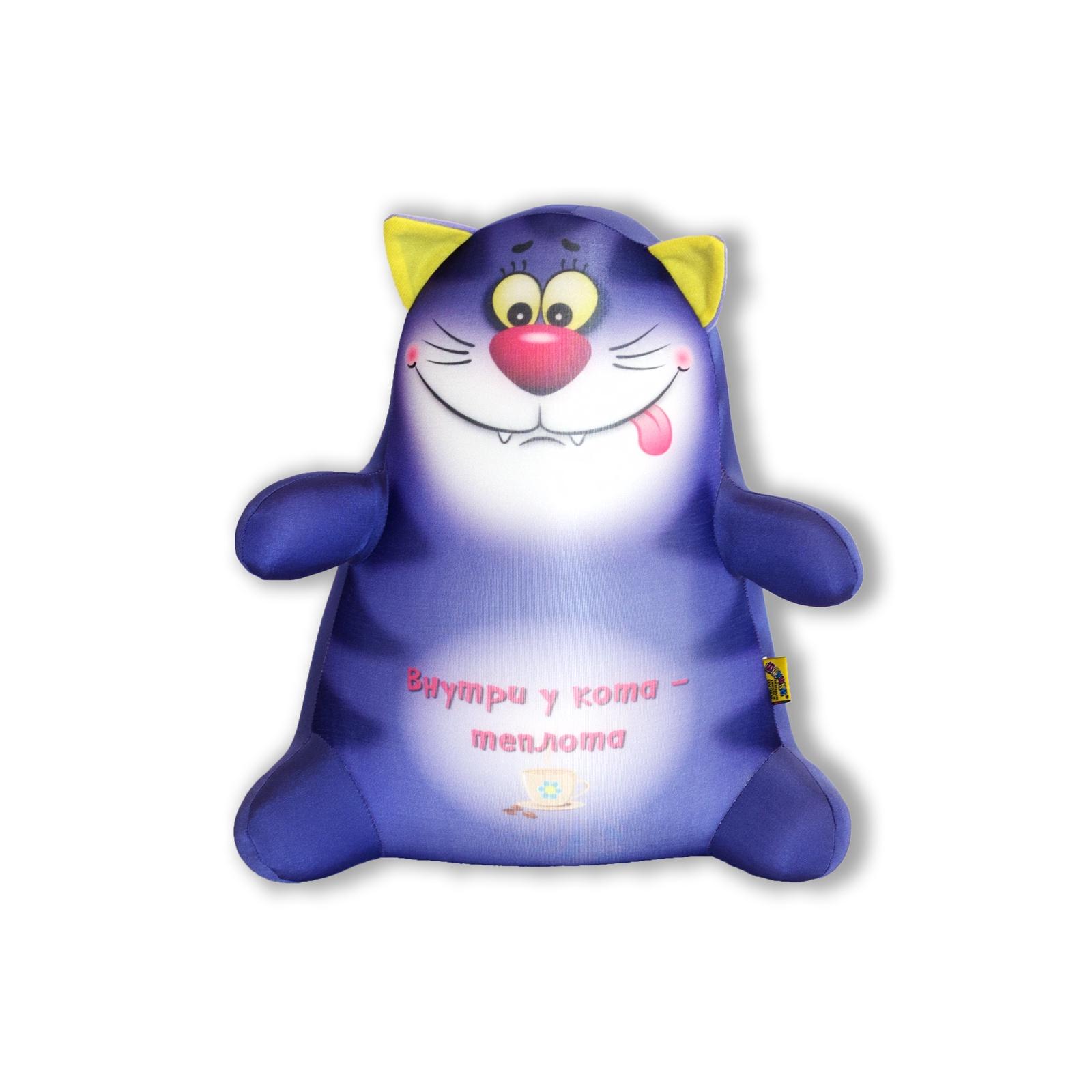 Подушка-игрушка Штучки, к которым тянутся ручки антистресс Котики Обормотики, фиолетовый, фиолетовый