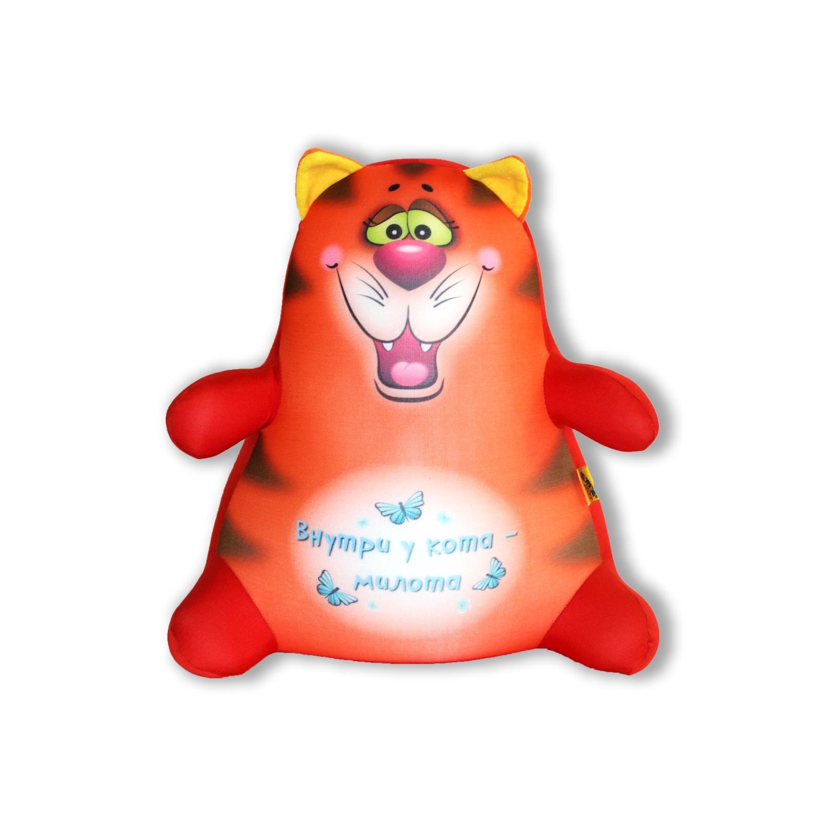 Подушка-игрушка Штучки, к которым тянутся ручки антистресс Котики Обормотики, рыжий, оранжевый