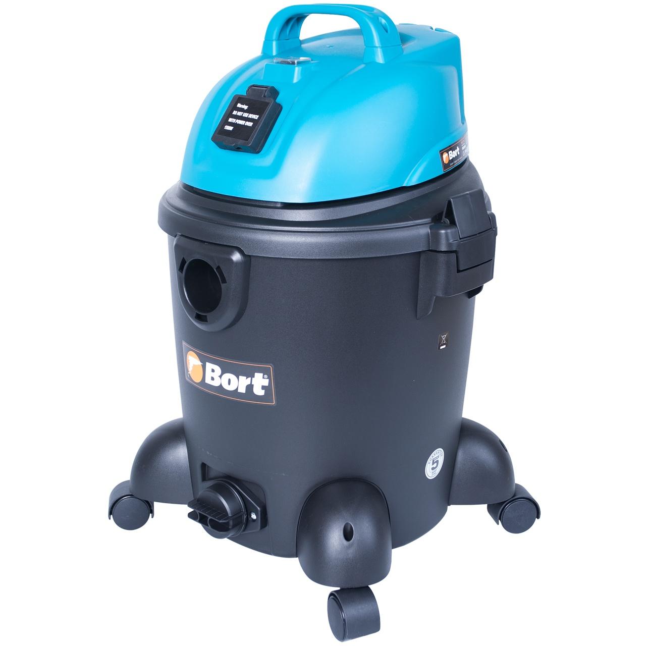 Строительный пылесос Bort BSS-1220 пылесос хозяйственный сухой и влажной уборки shop vac super 30 i