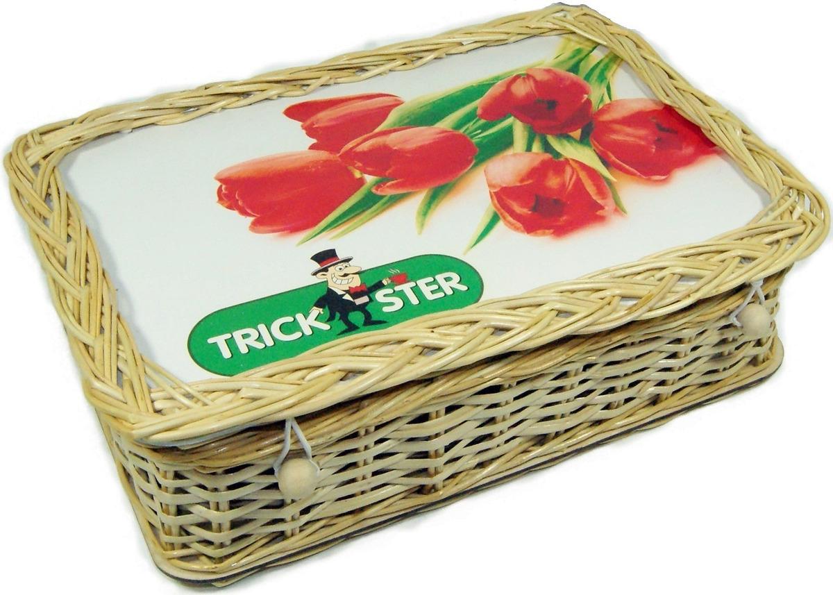 цена Набор листового чая Trickster Красные тюльпаны, в плетенной шкатулке, 2 шт по 100 г онлайн в 2017 году