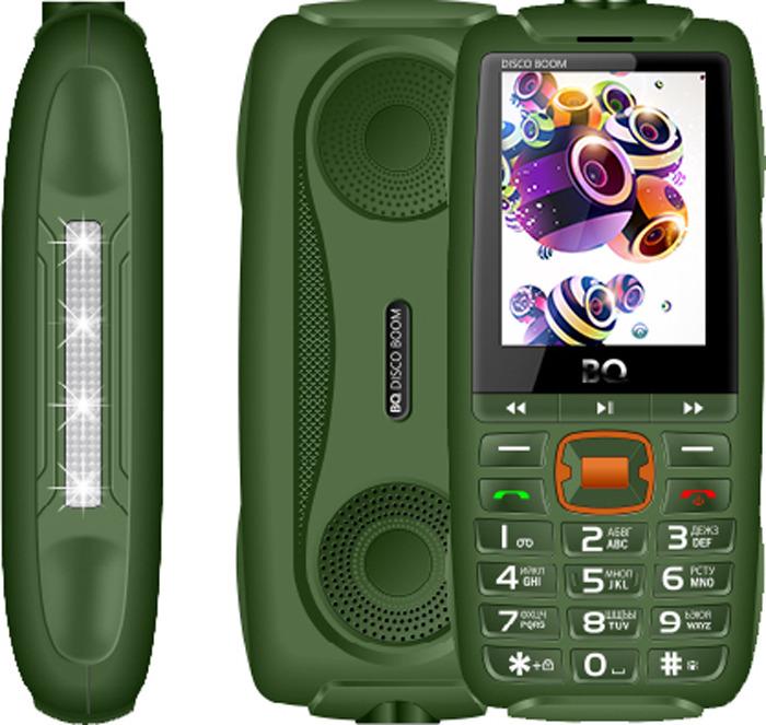 Мобильный телефон BQ 2825 Disco Boom, зеленый цена и фото