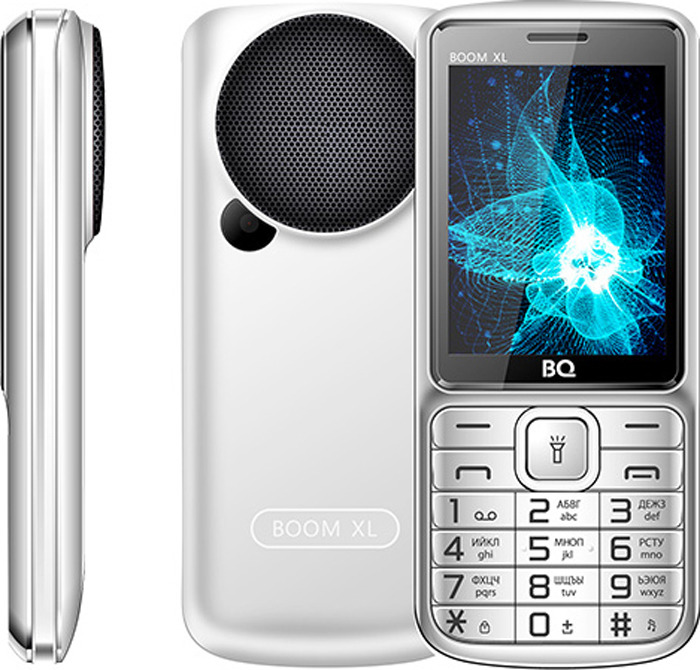 Мобильный телефон BQ 2810 Boom XL, серебристый сотовый телефон bq 2810 boom xl black