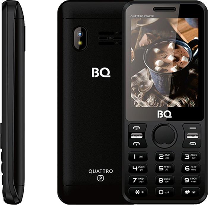 Мобильный телефон BQ 2812 Quattro Power, черный телефон bq 1414 start черный