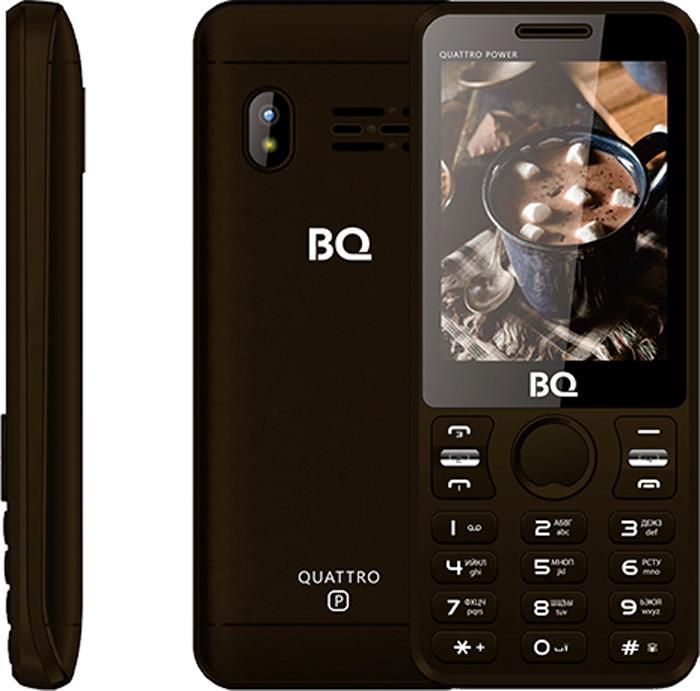 Мобильный телефон BQ 2812 Quattro Power, коричневый мобильный телефон bq mobile bq 2430 tank power green silver