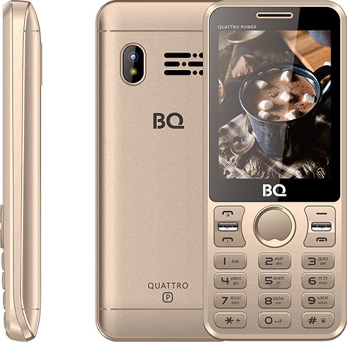 Мобильный телефон BQ 2812 Quattro Power, золотой стоимость