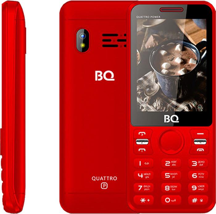 Мобильный телефон BQ 2812 Quattro Power, красный цена и фото