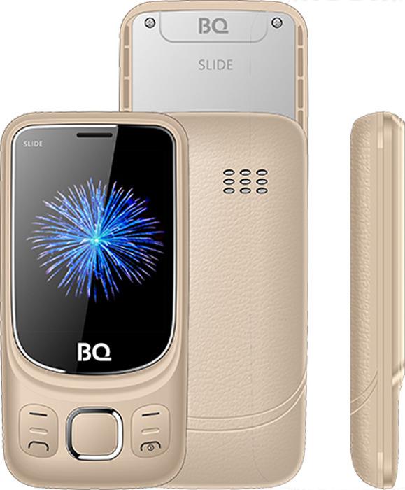 купить Мобильный телефон BQ 2435 Slide, золотой по цене 1829 рублей