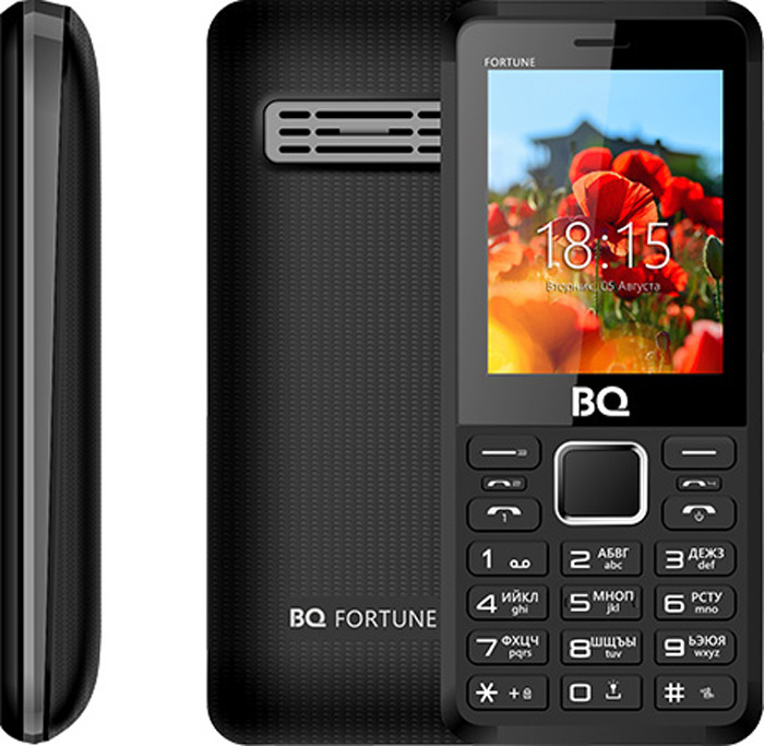 Мобильный телефон BQ 2436 Fortune P, черный, серый BQ Mobile