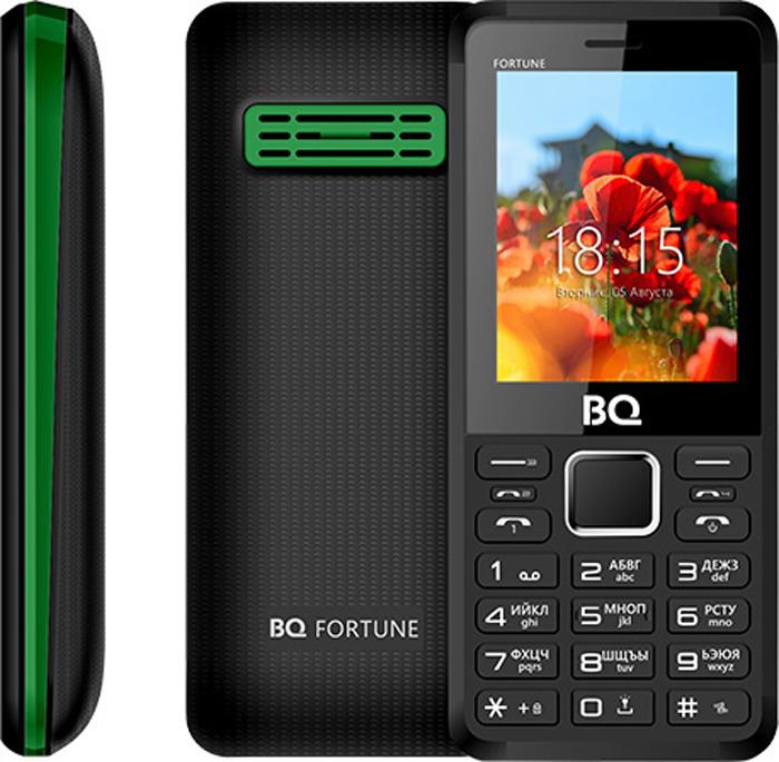 Мобильный телефон BQ 2436 Fortune P, черный, зеленый мобильный телефон bq 2429 touch черный 2 4 32 мб bluetooth