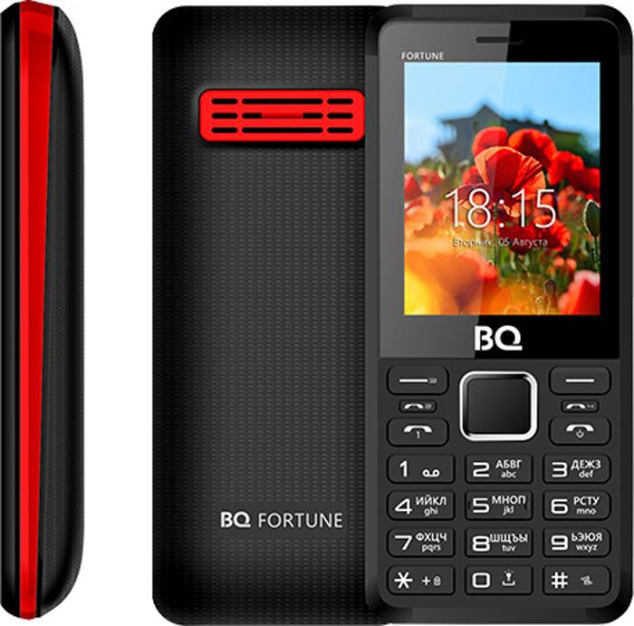 Мобильный телефон BQ 2436 Fortune P, черный, красный цена и фото