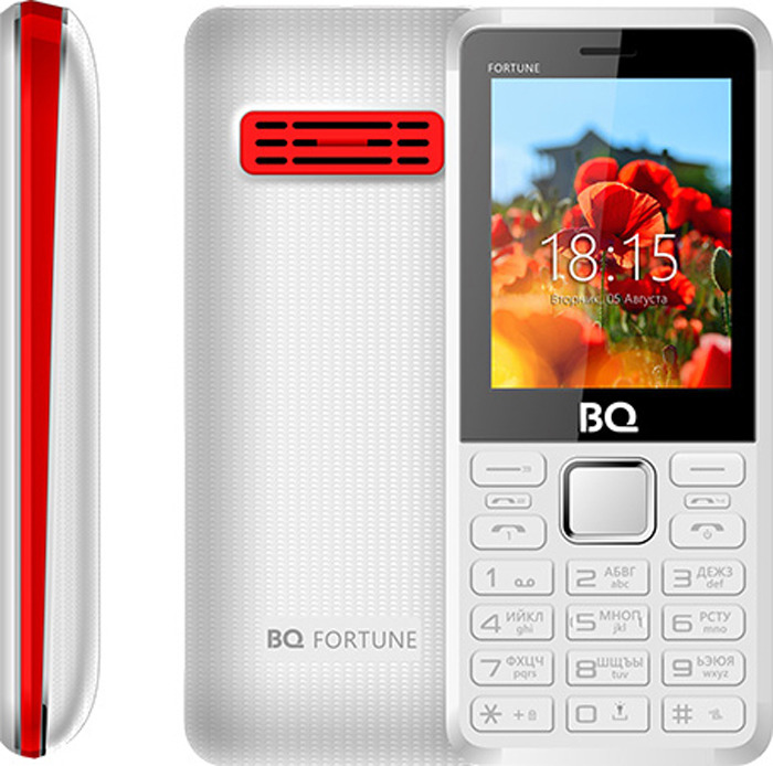 Мобильный телефон BQ 2436 Fortune P, белый, красный цена и фото