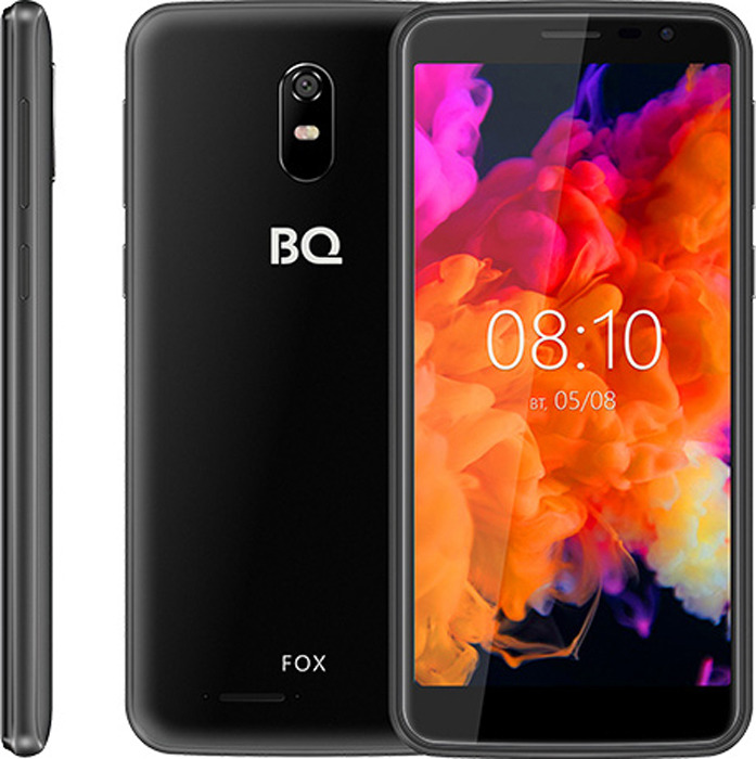 Смартфон BQ Mobile 5004G Fox 8 GB, черный смартфон bq mobile bq 5001l contact 8 gb серебристый