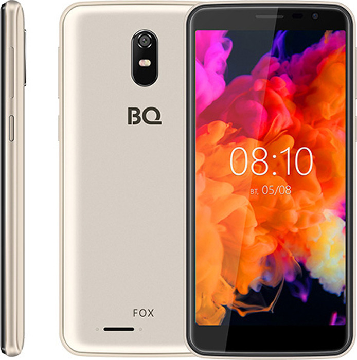 Смартфон BQ Mobile 5004G Fox 8 GB, золотой смартфон bq mobile bq 5001l contact 8 gb серебристый