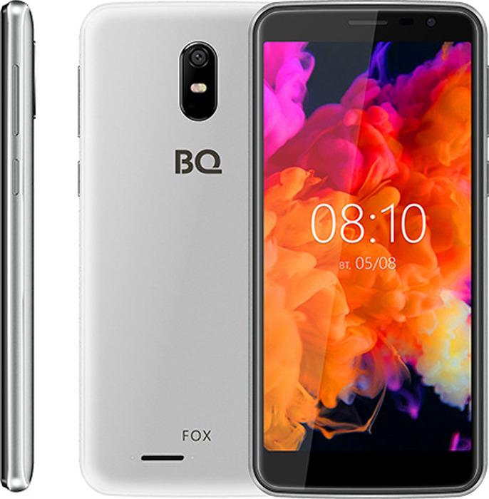 Смартфон BQ Mobile 5004G Fox 8 GB, серебристый смартфон bq mobile bq 5012l rich black