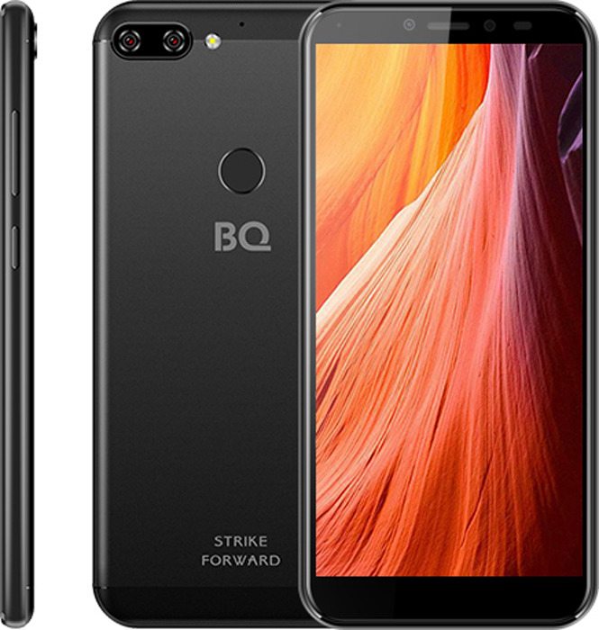 Смартфон BQ Mobile 5528L Strike Forward 16 GB, черный смартфон bq mobile bq 5001l contact 8 gb серебристый