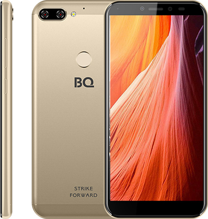 Смартфон BQ Mobile 5528L Strike Forward 16 GB, золотой смартфон bq mobile bq 5001l contact 8 gb серебристый