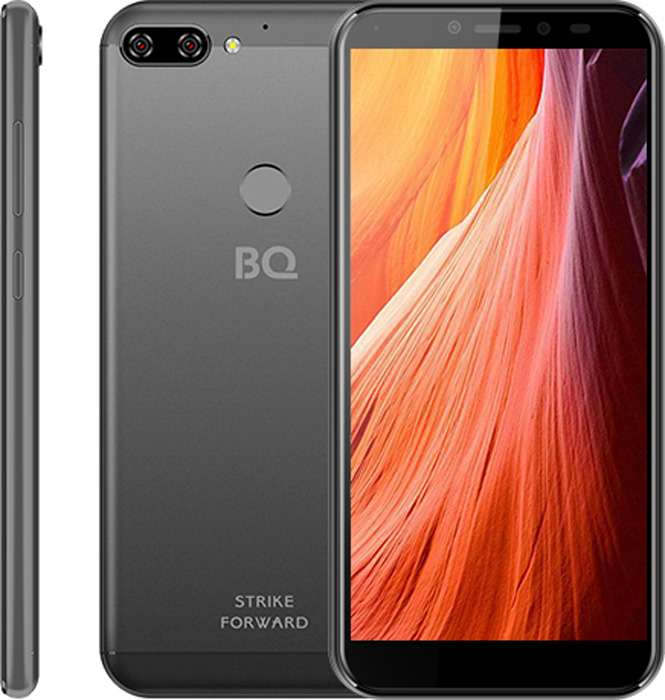 Смартфон BQ Mobile 5528L Strike Forward 16 GB, серый смартфон bq mobile bq 5001l contact 8 gb серебристый