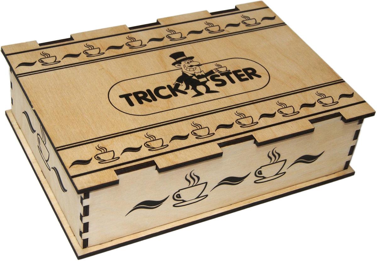 Набор листового чая Trickster, в деревянной шкатулке, 2 шт по 100 г
