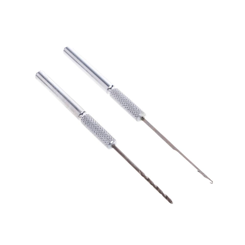 Набор инструментов для рыбной ловли AGP (2 инструмента), серебристый