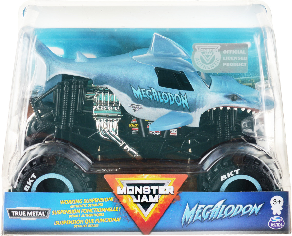 Машинка Monster Jam Cast Collector World Megalodon, 6044869_20107722