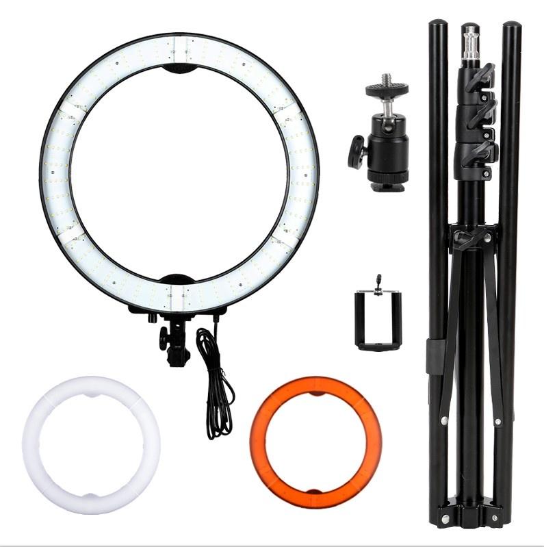 Студийное оборудование Okira Кольцевая лампа LED RING 240 light, черный